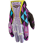 2012 Fly Racing Girl's Kinetic Gloves - Fly Dirt Bike Gloves
