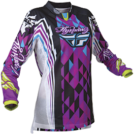 2012 Fly Racing Girl's Kinetic Jersey - 2011 Fly Racing Youth Kinetic Jersey - Flash