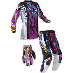 2012 Fly Racing Girl's Kinetic Combo - Race - Fly Dirt Bike Riding Gear