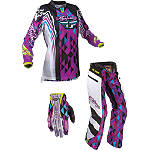 2012 Fly Racing Girl's Kinetic Combo - OTB -  Dirt Bike Pants, Jersey, Glove Combos