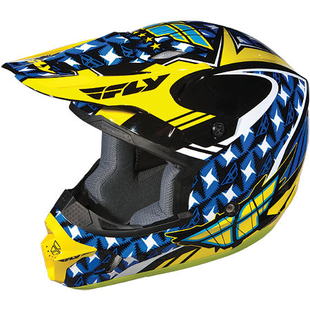 2012 Fly Racing Youth Kinetic Flash Helmet - Main