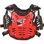 Fly Racing Mini Convertible II Roost Deflector -  Motocross Chest and Back Protection