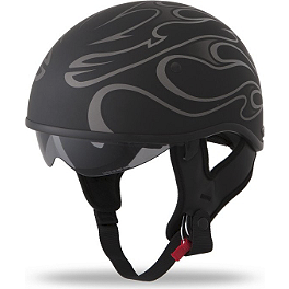 Fly Racing .357 Helmet - Flame - Scorpion EXO-900 Everclear Shield