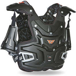 Fly Racing Pro Chest Protector - Fly Racing Convertible II Roost Deflector