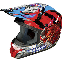 2014 Fly Racing Youth Kinetic Helmet - Fly-Bot - 2013 Fox Youth V1 Helmet - Pestilence