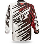 2014 Fly Racing Youth Kinetic Mesh Jersey - Shock - Fly Dirt Bike Riding Gear
