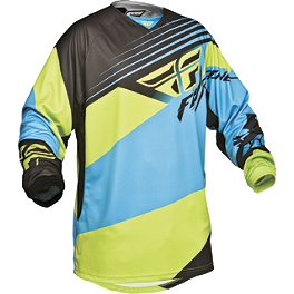 2014 Fly Racing Youth Kinetic Jersey - Blocks - 2012 Factory Effex Metal Mulisha Graphics - Kawasaki