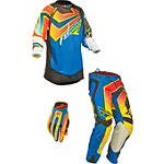 2014 Fly Racing Youth Evolution Combo - Vertigo - Fly Dirt Bike Pants, Jersey, Glove Combos