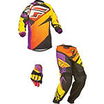 2014 Fly Racing Youth F-16 Combo - Limited - Utility ATV Pants, Jersey, Glove Combos