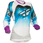 2014 Fly Racing Girl's Kinetic Jersey - GIRLS--JERSEYS Dirt Bike Riding Gear