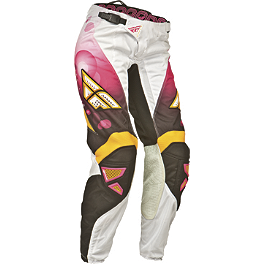 2014 Fly Racing Girl's Kinetic Race Pants - 2014 Fly Racing Girl's Kinetic Overboot Combo