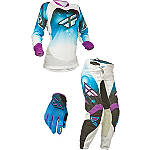 2014 Fly Racing Girl's Kinetic Race Combo - Fly Dirt Bike Pants, Jersey, Glove Combos