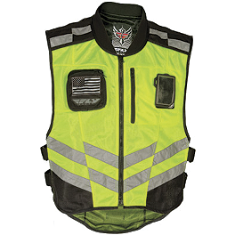 Fly Racing Fast-Pass Vest - Hi-Viz - Icon Interceptor Reflective Vest