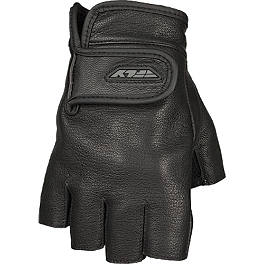 Fly Racing Half-N-Half Gloves - River Road Twin Iron Shorty Leather Gloves