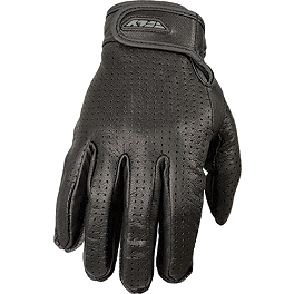Fly Racing Perforated Rumble Gloves - Pokerun XG Leather Gloves