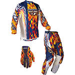 2012 Fly Racing Kinetic Combo - Utility ATV Pants, Jersey, Glove Combos