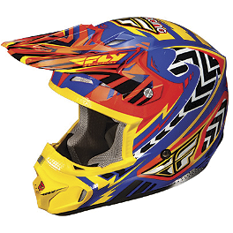 2013 Fly Racing Kinetic Pro Helmet - Andrew Short Replica - 2008 Yamaha RAPTOR 700 Blingstar X Country Rodeo Front Bumper - Polished Aluminum