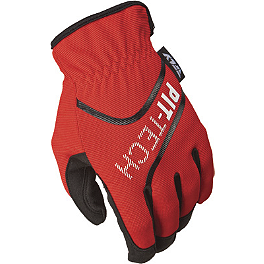 Fly Racing Pit Tech Lite Gloves - Fox Mudpaw Gloves - Bones