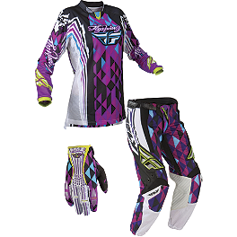 2012 Fly Racing Women's Kinetic Combo - Race - 2013 Troy Lee Designs Women's GP Air Combo - Savage