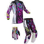 2012 Fly Racing Women's Kinetic Combo - Race - Fly Dirt Bike Pants, Jersey, Glove Combos