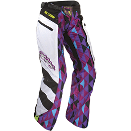 2012 Fly Racing Women's Kinetic Over-Boot Pants - Suzuki Genuine Accessories Graphic Kit - White Flower