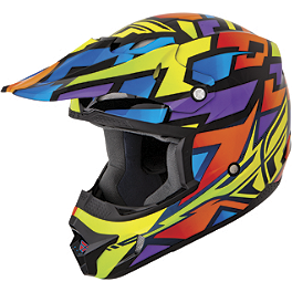 2014 Fly Racing Kinetic Helmet - Block Out - 2014 Fly Racing F2 Carbon Helmet - Dubstep