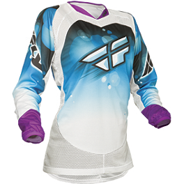 2014 Fly Racing Women's Kinetic Jersey - 2014 Fly Racing Women's Kinetic Gloves