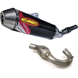 FMF Factory 4.1 Complete Exhaust - Carbon Fiber With Titanium Megabomb Header - FMF Factory 4.1 Complete Exhaust - Carbon Fiber With Stainless Steel Powerbomb Header