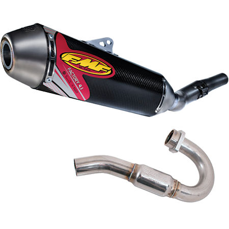 FMF Factory 4.1 Complete Exhaust - Carbon Fiber With Titanium Powerbomb Header - Main