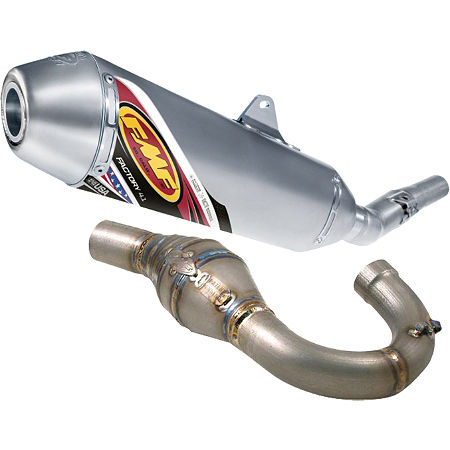 FMF Factory 4.1 Complete Exhaust - Titanium Mid Pipe With Titanium Megabomb Header - Main
