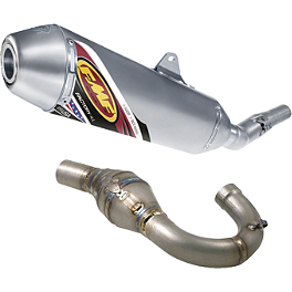 FMF Factory 4.1 Complete Exhaust - Stainless Steel Mid Pipe With Titanium Megabomb Header - Pro Circuit Ti-4 GP Complete Exhaust - Low Boy