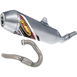 FMF Factory 4.1 Complete Exhaust - Stainless Steel Mid Pipe With Titanium Powerbomb Header - FMF Turbinecore 2 Spark Arrestor Silencer - 2-Stroke