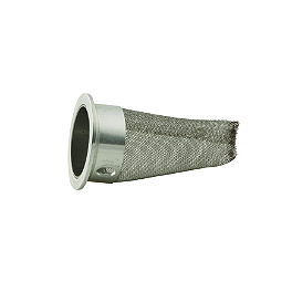 FMF Factory 4.1 Spark Arrestor Insert - FMF Factory 4.1 Slip-On Exhaust - Natural Titanium With Stainless Steel Mid Pipe