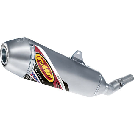 FMF Factory 4.1 Slip-On Exhaust - Natural Titanium With Stainless Steel Mid Pipe - Main