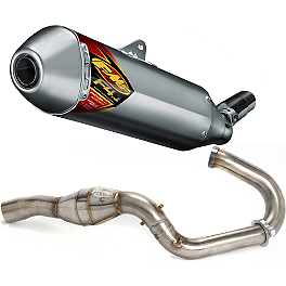 FMF Aluminum Factory 4.1 Slip-On RCT With Stainless Megabomb Header - 2011 Suzuki RMZ250 FMF Factory 4.1 Slip-On Exhaust - Natural Titanium With Titanium Mid Pipe