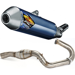 FMF Factory 4.1 Stainless Slip-On RCT With Stainless Megabomb Header - 2011 Suzuki RMZ250 FMF Aluminum Factory 4.1 Slip-On RCT With Stainless Powerbomb Header And Carbon Fiber End Cap