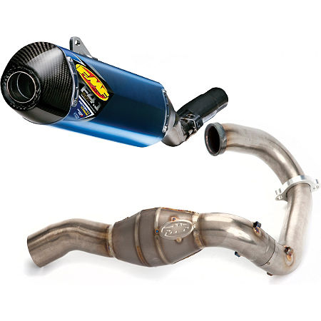 FMF Factory 4.1 Titanium Slip-On RCT With Titanium Megabomb Header And Carbon Fiber End Cap - Main