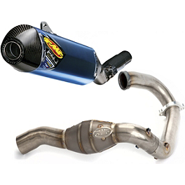 FMF Factory 4.1 Titanium Slip-On RCT With Titanium Megabomb Header And Carbon Fiber End Cap - 2011 Suzuki RMZ250 FMF Factory 4.1 Slip-On Exhaust - Natural Titanium With Titanium Mid Pipe