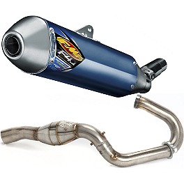 FMF Factory 4.1 Titanium Slip-On RCT With Stainless Megabomb Header - 2011 Suzuki RMZ450 FMF Factory 4.1 Titanium Slip-On RCT With Titanium Megabomb Header And Carbon Fiber End Cap