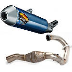 FMF Factory 4.1 Titanium Slip-On RCT With Titanium Megabomb Header - Dirt Bike Exhaust Systems & Accessories