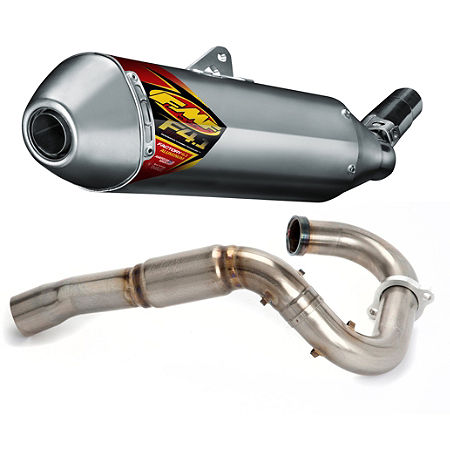 FMF Aluminum Factory 4.1 Slip-On RCT With Titanium Powerbomb Header - Main