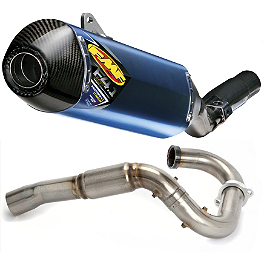FMF Factory 4.1 Titanium Slip-On RCT With Stainless Powerbomb Header And Carbon Fiber End Cap - FMF Factory 4.1 Complete Exhaust - Stainless Steel Mid Pipe With Titanium Powerbomb Header