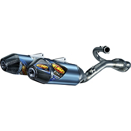FMF Factory 4.1 RCT Complete Exhaust - Blue Anodized Titanium Dual With Megabomb Header And Carbon Fiber End Caps - Yoshimura RS-9D Full System Dual Exhaust - Titanium/Carbon Fiber