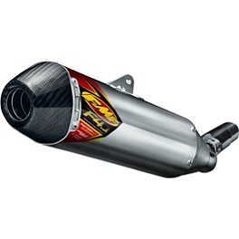 FMF Aluminum Factory 4.1 RCT Stainless Steel Slip-On Exhaust With Carbon Fiber End Cap - 2012 KTM 450SXF FMF Aluminum Factory 4.1 Slip-On RCT With Stainless Powerbomb Header And Carbon Fiber End Cap