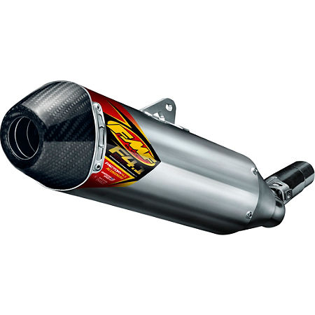 FMF Factory 4.1 RCT Slip-On Exhaust - Aluminum With Stainless Steel Mid Pipe And Carbon Fiber End Cap - Main