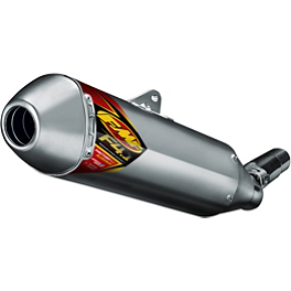 FMF Factory 4.1 RCT Slip-On Exhaust - Aluminum With Stainless Steel Mid Pipe - 2011 Yamaha YFZ450X FMF Megabomb Header - Titanium