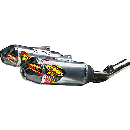 FMF Factory 4.1 RCT Slip-On Dual Exhaust - Aluminum With Stainless Steel Mid Pipe And Carbon Fiber End Caps - Yoshimura RS-9D Slip-On Dual Exhaust - Stainless/Aluminum