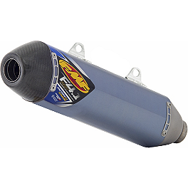 FMF Factory 4.1 RCT Slip-On Exhaust - Blue Anodized Titanium With Carbon Fiber End Cap - 2013 KTM 350SXF FMF Factory 4.1 Spark Arrestor Insert