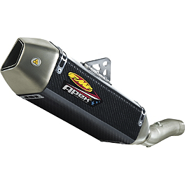 FMF Apex Slip-On Exhaust - Carbon Fiber - FMF Apex Slip-On Exhaust - Titanium