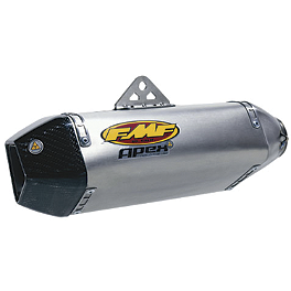 FMF Apex Slip-On Exhaust - Titanium - 2010 Kawasaki ZR1000 - Z1000 Vance & Hines CS One Slip-On Exhaust - Black